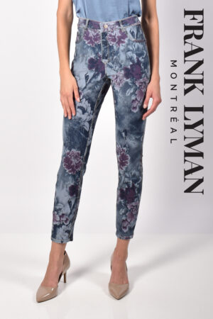 Frank Lyman Denim Pant, floral/dark blue Reversible Jeans