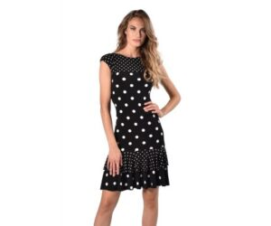 Frank Lyman Knit Dress, Black/White